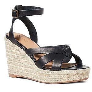 Soludos Charlotte Leather Wedge Sandal Sz. 6.5